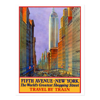 Fifth Avenue - New York Postcard
