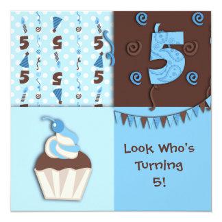 Fifth Birthday : Boy : Invitation