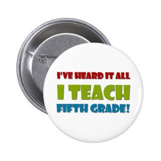 Fifth Grade Teacher Pin