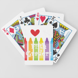 Fifth grade teacher bicycle playing cards