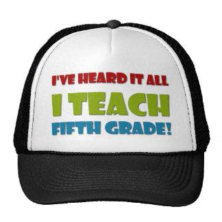 Fifth Grade Teacher Cap