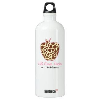 Fifth Grade Teacher Giraffe Print Apple SIGG Traveller 1.0L Water Bottle