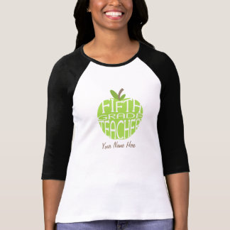 Fifth Grade Teacher - Green Apple T-Shirt