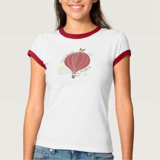 Fifth Grade Teacher Hot Air Balloon Apple T-shirt