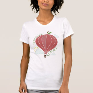 Fifth Grade Teacher Hot Air Balloon Apple T-shirt
