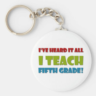 Fifth Grade Teacher Basic Round Button Key Ring