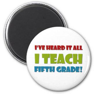 Fifth Grade Teacher 6 Cm Round Magnet