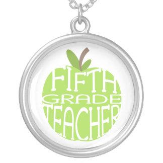 Fifth Grade Teacher Necklace
