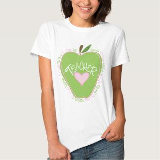Fifth Grade Teacher Pink & Green Apple Tshirts