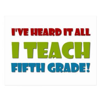 Fifth Grade Teacher Postcard