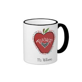Fifth Grade Teacher Red Apple Coffee Mugs