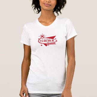 Fifth Grade Teacher Retro Red 60 s Inspired Sign Tees