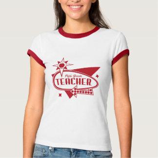 Fifth Grade Teacher Retro Red 60's Inspired Sign T Shirt