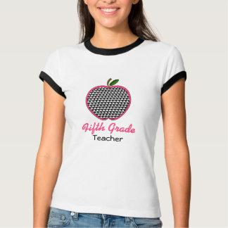 Fifth Grade Teacher Shirt - Houndstooth Apple