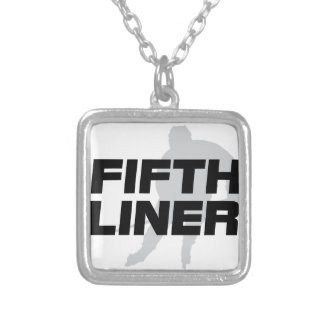 Fifth Liner Silver Plated Necklace