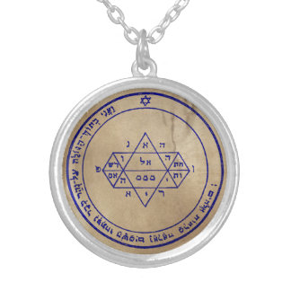 Fifth Pentacle of Jupiter Silver Plated Necklace
