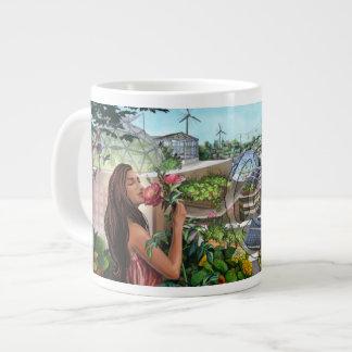 Fifth Sacred Flower Girl Jumbo Mug