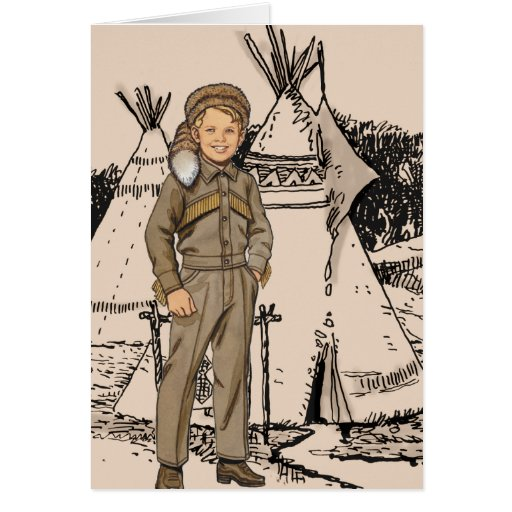 Fifties Daniel Boone Greeting Cards
