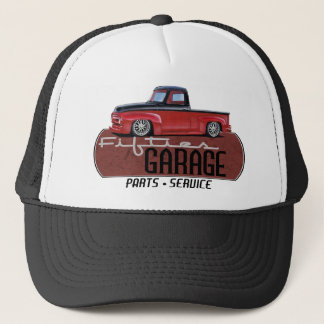 Fifties Garage with Truck Trucker Hat