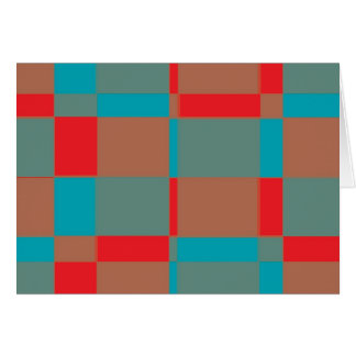 Fifties Style Abstract Greeting Card