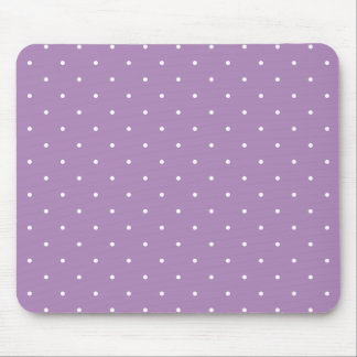 Fifties Style African Violet Purple Polka Dot Mouse Pad