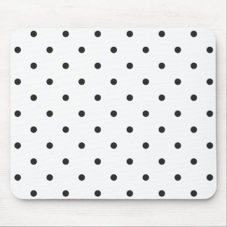 Fifties Style Black and White Polka Dot Mouse Pad