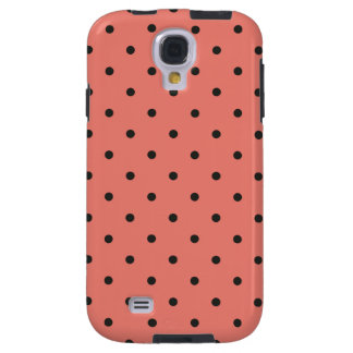Fifties Style Coral Polka Dot Galaxy S4 Case