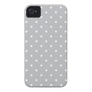 Fifties Style Gray Polka Dot Iphone 4/4S Case