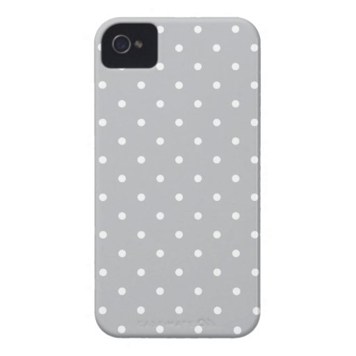 Fifties Style Gray Polka Dot Iphone 4/4S Case iPhone 4 Cover