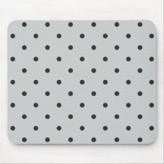 Fifties Style Gray Polka Dot Mouse Pad