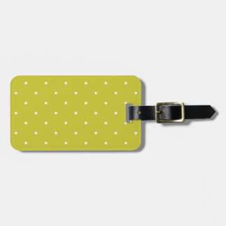 Fifties Style Olive Green Polka Dot Luggage Tag