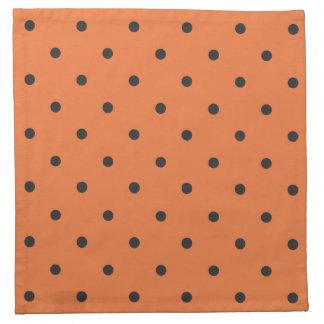 Fifties Style Orange Polka Dot Napkin