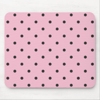 Fifties Style Pink Polka Dot Mouse Pad