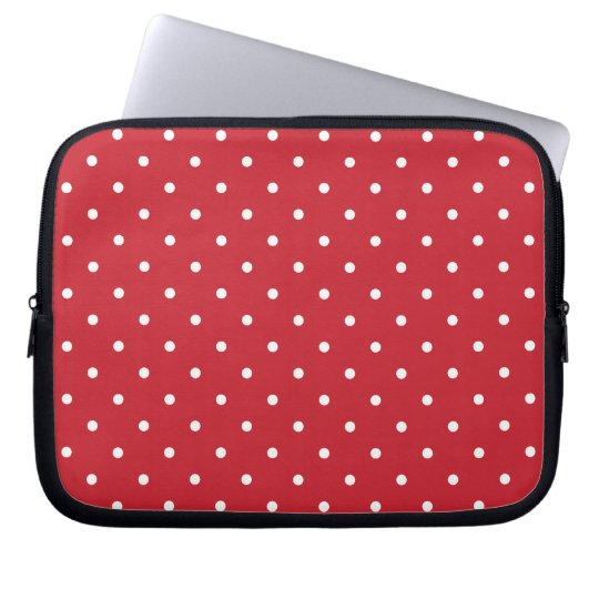 Fifties Style Red Polka Dot Laptop/iPad 2 Case