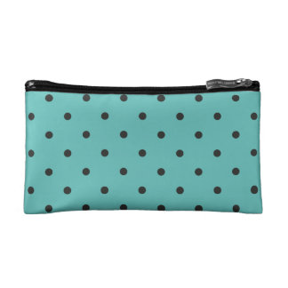 Fifties Style Turquoise Polka Dot Cosmetics Bags