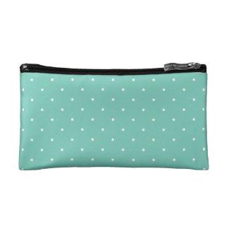 Fifties Style Turquoise Polka Dot Cosmetic Bags