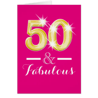 Fiftieth fifty 50th birthday party greeting card