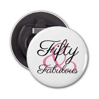 Fifty and Fabulous 50th Birthday Party Bottle Opener