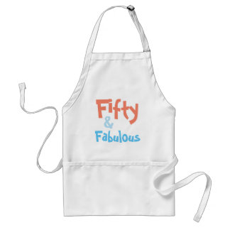 Fifty and Fabulous Birthday Apron