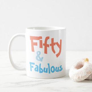 Fifty and Fabulous Birthday Mug