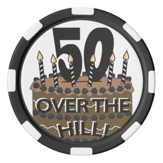 Fifty and Over the Hill - 50th Birthday Set Of Poker Chips