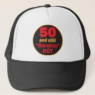Fifty and Still Smokin Hot | 50th Birthday Trucker Hat