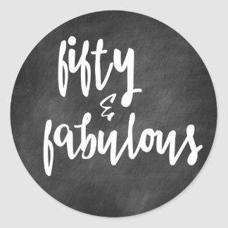 Fifty & Fabulous - 50th Birthday Stickers