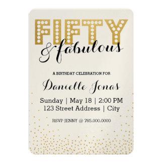 Fifty & Fabulous Card