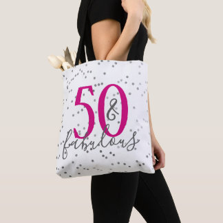 Fifty & Fabulous Confetti Tote Bag