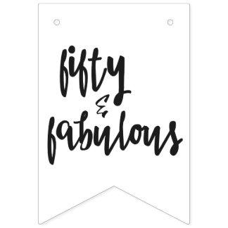 Fifty & Fabulous - Fun 50th Birthday Bunting