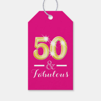 Fifty fiftieth fabulous birthday party gift tags