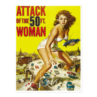 Fifty Foot Alien Women Postcard