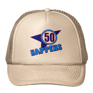Fifty Happens 50th Birthday Gifts Cap