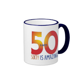 Fifty is nifty ringer mug